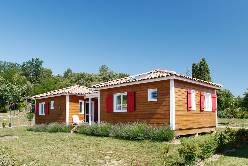 domaine sevenier camping location vacance en ardeche chalet frene 2 - Gallery