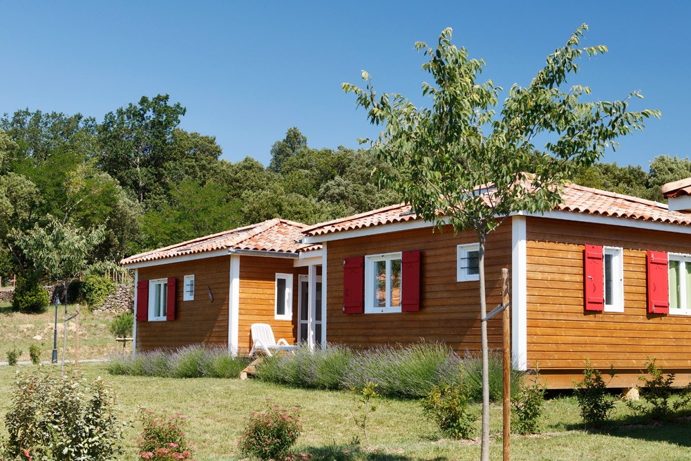 domaine sevenier camping location vacance en ardeche chalet frene 3 - Gallery