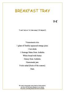 domaine sevenier spa restaurant Petit Dejeuner anglais pdf 212x300 - Bar, ice–cream Counter, Restaurant