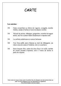 domaine sevenier spa restaurant carte français pdf 212x300 - Bar, ice–cream Counter, Restaurant