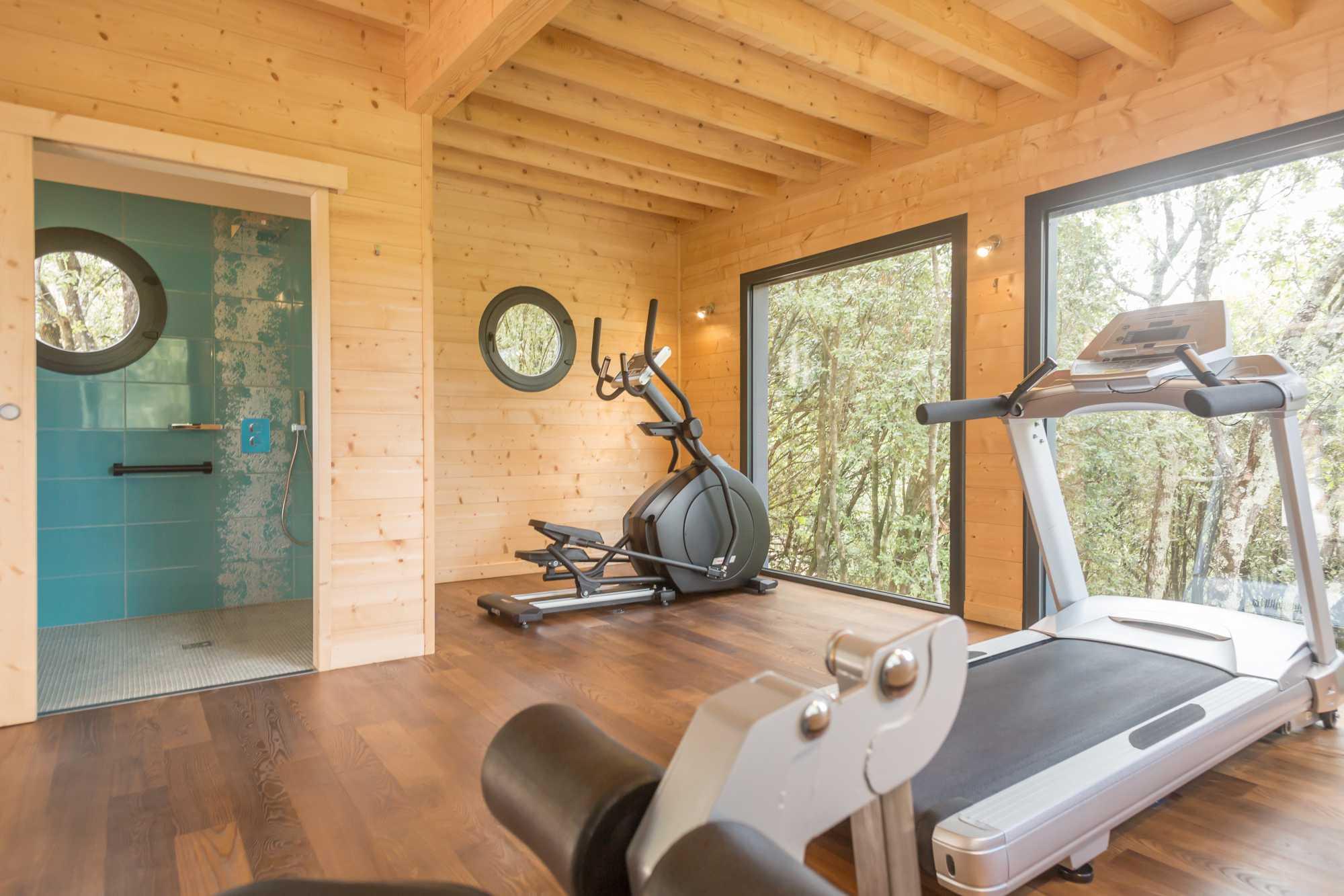 salle fitness du SPA Ardèche
