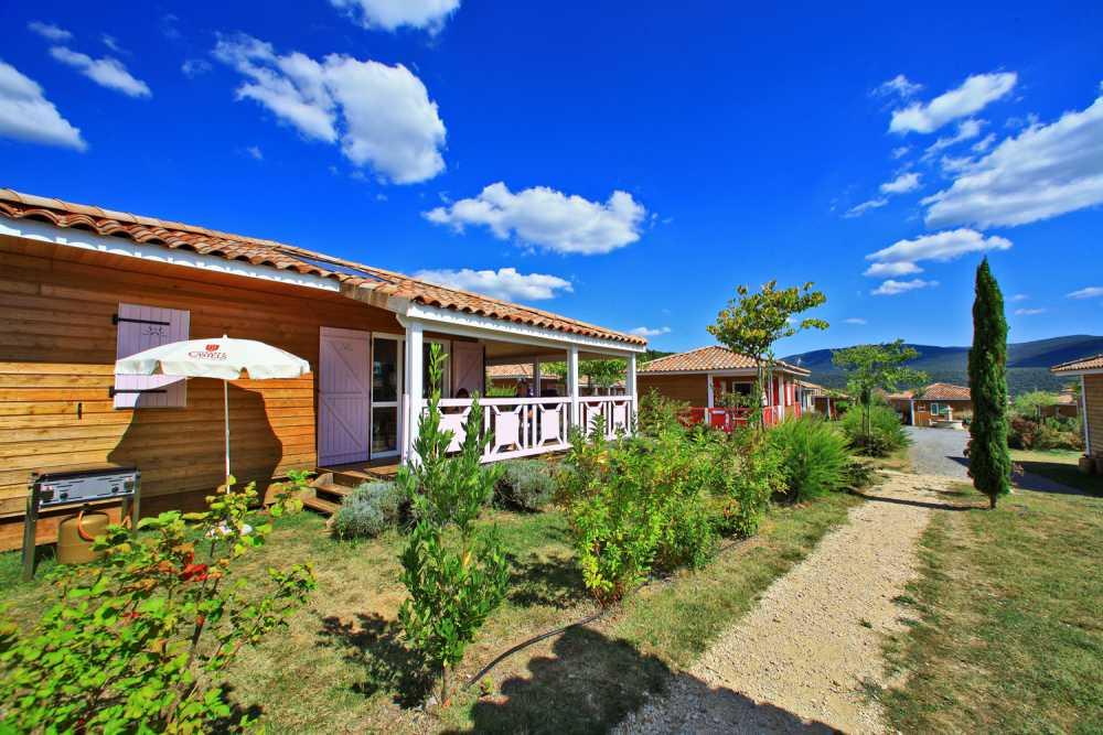 domaine sevenier camping location vacance en ardeche chalet olivier 2 - Gallery