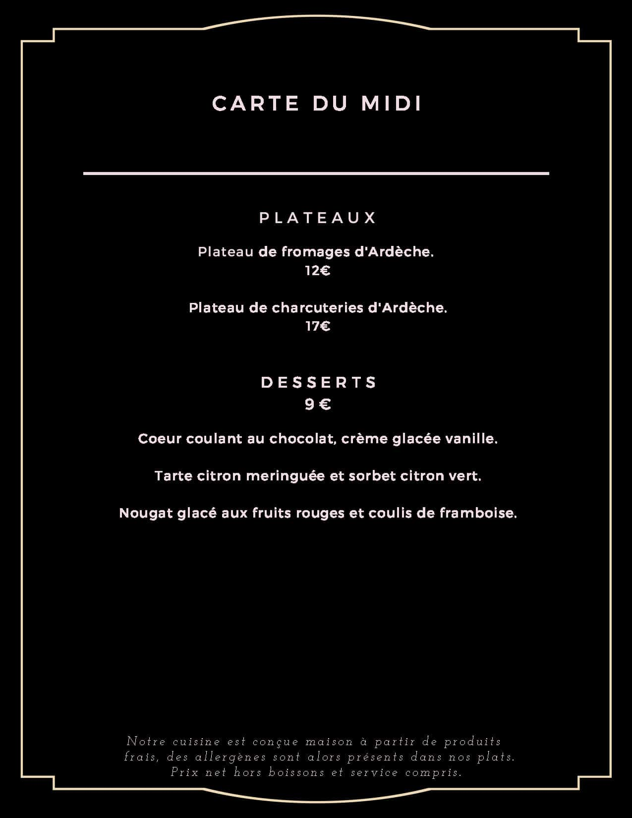 carte du midi desserts - carte-du-midi-desserts